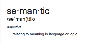 SemanticDefinition